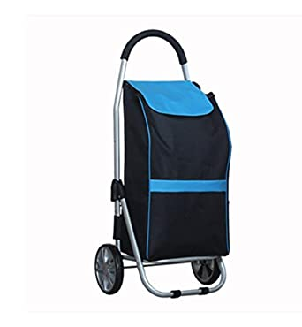J&M Shopping Trolley, Hard Wearing & Foldaway Lightweight - Shopping Cart