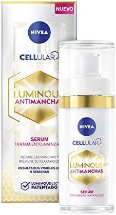 NIVEA Cellular LUMINOUS 630 Antimanchas Sérum Tratamiento Avanzado (1 x 30 ml), sérum facial con ácido hialurónico, sérum despigmentante para una piel más lisa y uniforme