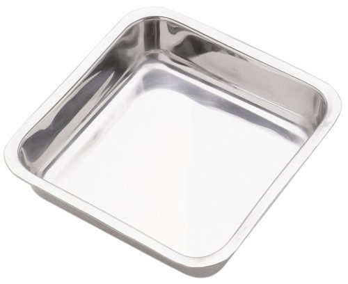 Norpro 7.5-Inch Stainless Steel Cake Pan, Square (Dish Loaf Small)