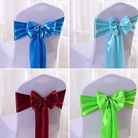 Long Ruban pour Housse Chaise D/écoration Rose Doitsa 10pcs N/œud de Chaises Mariage H/ôtel pour C/ér/émonie et R/éception 17 * 275cm