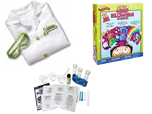 Scientific Explorer My First Mind Blowing Science Chemistry Kit Set for Kids with Learning Resources Primary Science Lab Coat and Glasses (Jumbo White Bunny Kit)