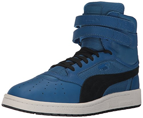 PUMA Men's Sky II Hi Color Blocked Lthr Sneaker, Lapis Blue Black, 9 M US