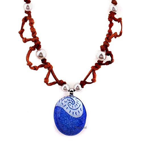 [Blue Moana Seashell Necklace jewelry - Disney Moana maui necklace merchandise] (Hawaiian Party Costume Ideas)