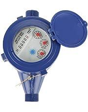 Delaman Contador del Agua, Herramienta de Medición de la Tabla Seca del Flujo de Agua Fría del Contador del Agua Fría DN15 Sola para el Hogar del Jardín