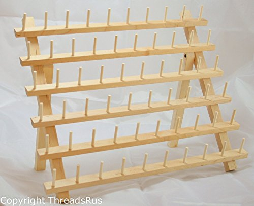 New ThreadNanny 2 Racks of 60 Spool Thread Rack for Sewing - Quilting - Embroidery Spools and Mini Cones Rayon Mini King Spools