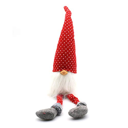 ITOMTE Handmade Swedish Gnome, Scandinavian Tomte, Yule Santa Nisse, Nordic Figurine, Plush Elf Toy, Home Decor, Winter Table Ornament, Christmas Decorations, Holiday Presents - 20.5 Inches, Red (A Very Special Family Guy Freakin Christmas)