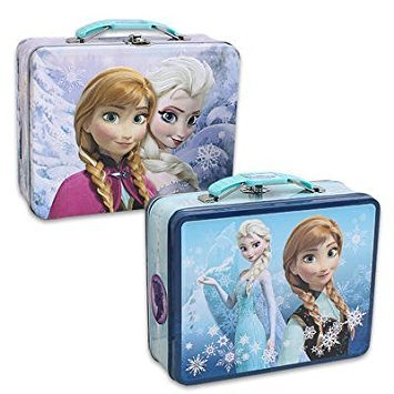 Disney Frozen Embossed Tin Lunch Box Set of 2