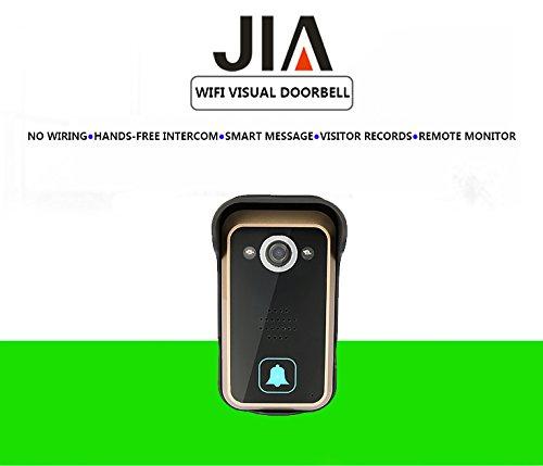 WiFi Wireless Video Intercom Doorbell Wireless Doorbell Mobile Phone APP Remote Control Unlock Remote Monitoring by JIA (Image #1)