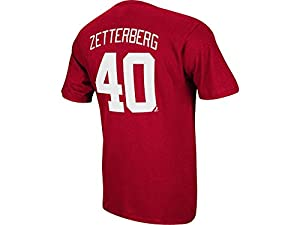 Detroit Red Wings Henrik Zetterberg Red Name and Number T-Shirt