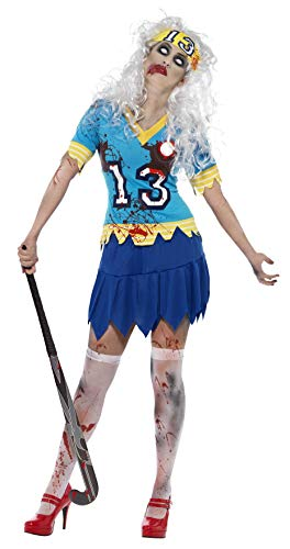 Smiffys Women's High School Horror Zombie Hockey Player Costume