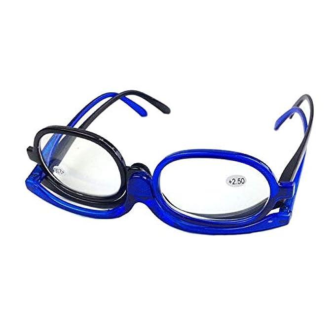 Lettura Idea Regalo Pieghevole E Kafigc8 - Da Blu Girevole Per Degrees Blue Lente Trucco Donne D'ingrandimento Uomini 400