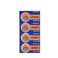 4 PACK SONY CR1632 ECR1632 Batería de celda de moneda de reloj de litio de 3 voltios (4 baterías)