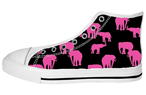 Toile Femmes Haut Haut Chaussures Art Design Modèle Chaussures34