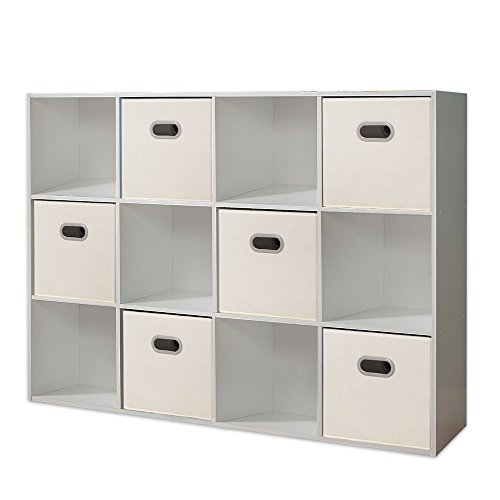 house day fabric storage bins beige 12 inch cube box foldable fabric drawers with cut out. Black Bedroom Furniture Sets. Home Design Ideas