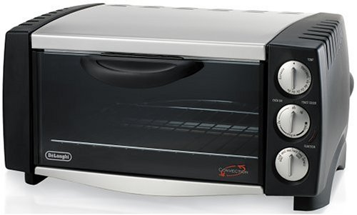 DeLonghi EO1251 6-Slice 1/2-Cubic-Foot Convection Oven, Black and Stainless Steel (Delonghi Toaster Ovens compare prices)