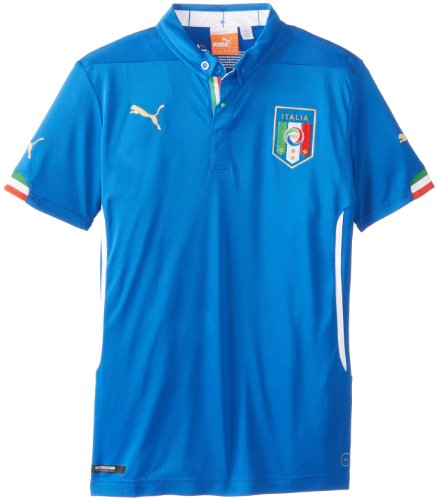 Puma Boy's Italia Home Replica Soccer Jersey, Team Power Blu