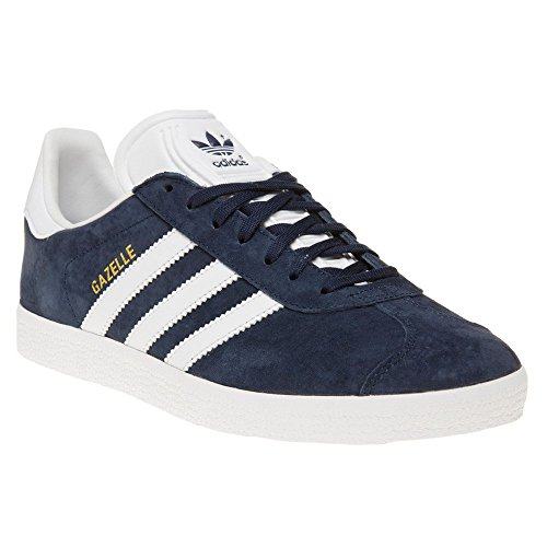 Adidas Originals Men's Gazelle Lace-up Sneaker, Collegiate Navy/White/Gold Met, 10.5 D(M) US (Adidas Gazelle Og Leather Trainers In Burgundy White)