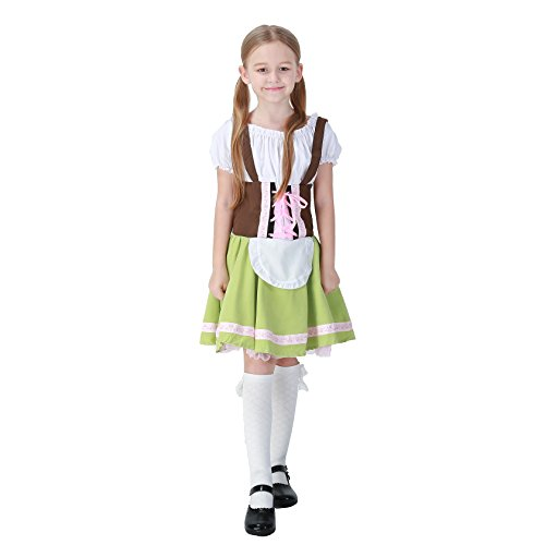 HOTER Kid's Oktoberfest Beer Festival In Munich Halloween Fancy Dress Costume