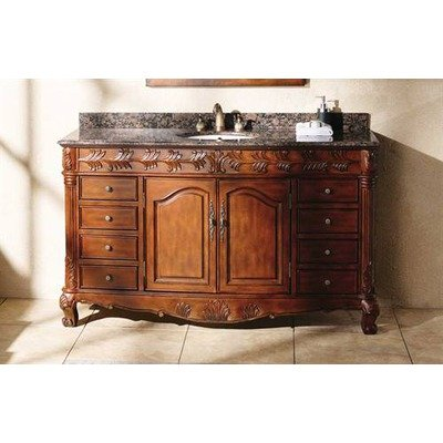 Classica Cherry - James Martin Furniture 497940 60 in. Classic Bathroom Vanity in Cherry and Brown