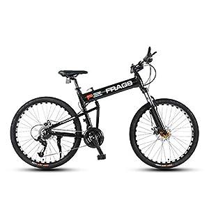 41E7HlvhiFL. SS300 Bicicletta, Pieghevole Bicicletta Mountain Bike, 26 Pollici 24 velocità Biciclette, Bicicicletta MTB, Assorbimento degli…