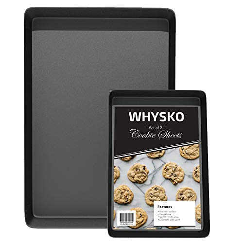 Non Stick Bakeware, Includes Multiple Sizes Cookie Sheets, Warp and Rust Resistant Baking Trays