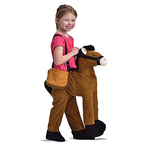 Childrens Dress Up Horse Ride On Fancy Dress Costume 3-7 (Horse And Jockey Fancy Dress Costume)