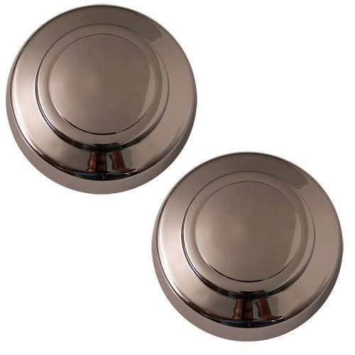 Set of 2 Replacement Aftermarket Front Center Caps Hub Cover Fits 16x7 Inch Wheel - Part Number: IWCC3140/F