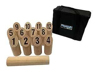 Playcraft Sport Deluxe Hardwood Number Kubb Game Set