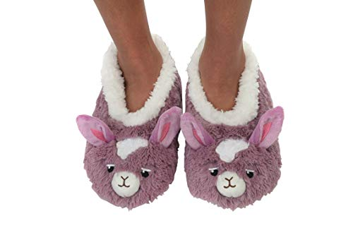 Snoozies Womens Furry Foot Pals (Llam, Medium) (Furry Pal)