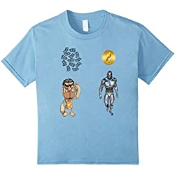 Kids Funny Bitcoin vs Normal Currency T Shirt BTC Crypto T Shirt 4 Baby Blue