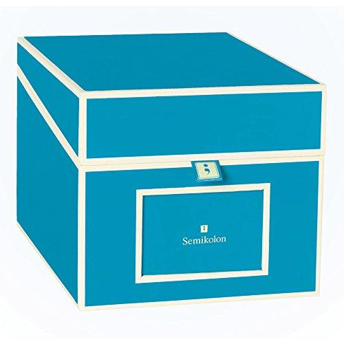 Semikolon Multimedia CD/DVD/Photo Storage Box, Turquoise (31819) -