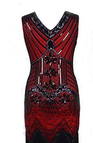 High end Factory Vintage 1920s Flapper Great Gatsby Dress 2018 Summer Fancy Costumes V-Neck Cap Sleeve Sequin Fringe Pa