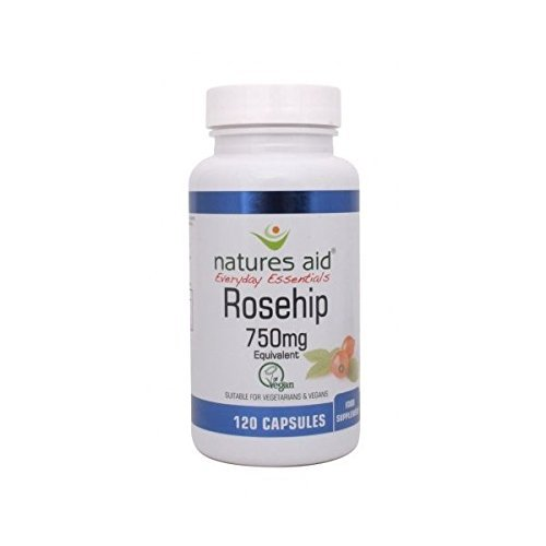 (8 PACK) - N/Aid Rosehip 750Mg Vege Capsules | 120s | 8 PACK - SUPER SAVER - SAVE MONEY by Natures (Natures Aid Rose)