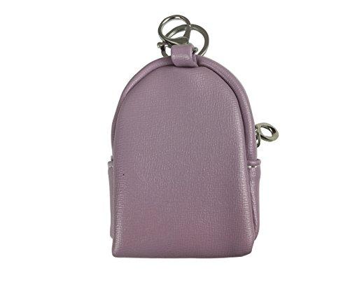 Emartbuy Pu Leder, Süße Mini Schlüsselanhänger Kette Halter, Geldbeutel, Reißverschluss-Tasche Wallet - Banane - Gelb Pu Leder Münze Brieftasche - Hi-Lila