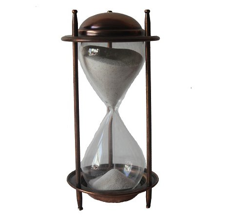 (Antique Vintage Style Hourglass Sand Timer Antique Collection Copper Finish Sand Timer)