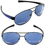 Tag Heuer Sunglasses LRS 0256-404 Cobalt Blue Black / Polarized Watersport Lens