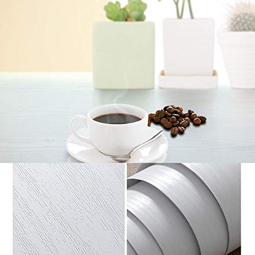12 X 197 White Wood Contact Paper Decorative for Countertops Cabinets Shelf Liners Self-Adhesive Wallpaper for Furniture