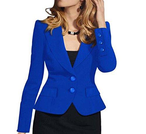 Taille Bleu XIAOXAIO L tait Mince Manches Court Costume Costume Paragraphe Rouge Longues Veste Bleu Blanc Petit Petit Noir Slim Couleur Femmes XawfnHxf6R