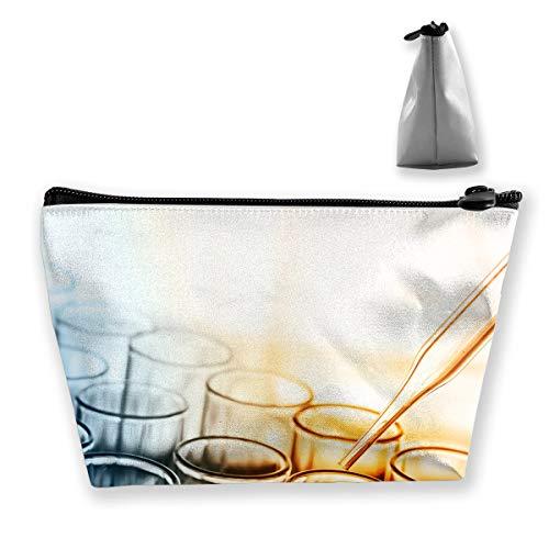 Makeup Bag Trapezoidal Storage Bag Chemistry Science Council Portable Cosmetic Bag Ladies Mobile Travel Bag]()