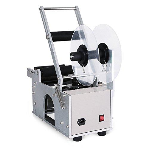BestEquip Labeling Machine Semi Automatic Label Applicator 120W Bottle Labeler 12-90mm Bottle Labeling Machine