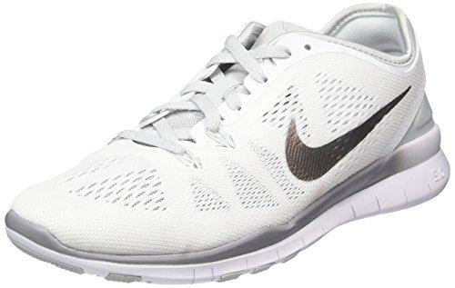 Nike Free 5.0 TR Fit 5 Womens Cross Training Shoes (11.5, WHITE/PURE PLATINUM//METALLIC SILVER)