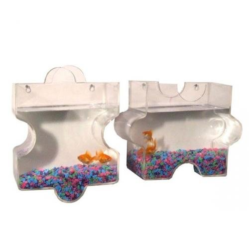 KAZE HOME Wall Mount Jigsaw Puzzle Fish Bowl