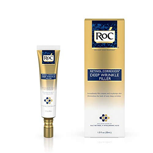 RoC Retinol Correxion Deep Wrinkle Facial Filler, Anti-Aging Treatment with Hyaluronic Acid and Retinol, Non Comedogenic, 1 fl. oz