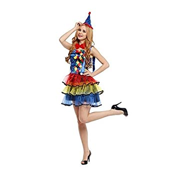 Sexy Clown Costume Adult Circus Ladies Fancy Dress Outfit New UK 8-12  sc 1 st  Amazon UK & Sexy Clown Costume Adult Circus Ladies Fancy Dress Outfit New UK 8 ...