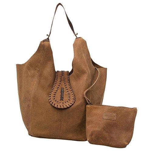 AllAsta Purse Kamya Leather Hobo Antique Silver -