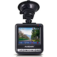 Ausdom AD282 Dash Cam, 2.4 LCD 2K Wide Angle Dashboard Camera Car Dvr with 1296 P Ambarella A7, G-Sensor, WDR, Loop Recording, Night Vision, 16 GB Card
