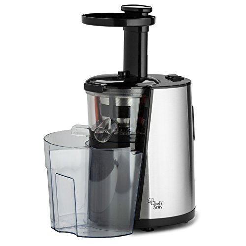 Slowstar Masticating Juicer : Chef s Star Slow Masticating Juicer - Stainless Steel / Black - Tec Ofertas