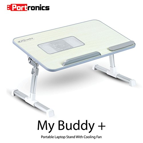 Portronics POR-704 My Buddy Plus Adjustable Laptop Cooling Stand(Grey)