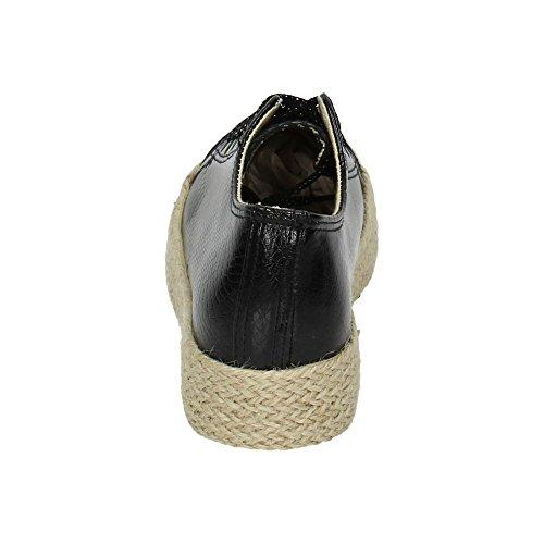 Moda De Mujer Zapatop Zapatillas Pt246 Negro Zapatilla RpqwwEt