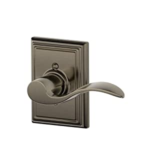Schlage F170ACC620ADDRH Addison Collection Right Hand Accent Decorative Trim Lever, Antique Pewter